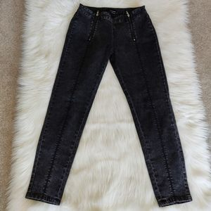 The Kooples High Waisted Double Zipper Jeans